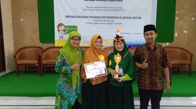 Mahasiswa PIAUD Juara Lomba Microteaching Tingkat Nasional